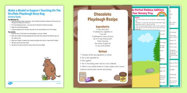 Make a Model To Support Teaching On The Gruffalo Busy Bag Resource Pack For Parents - pasta, playdough, Julia Donalsdon, Axel Scheffler, Gruffalo