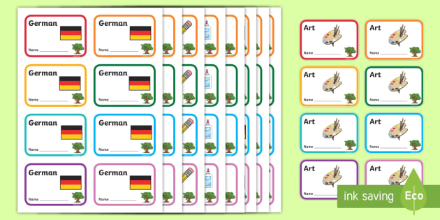 Oak Tree Themed Book Labels - Themed Book label, label, subject labels, exercise book, workbook labels, textbook labels