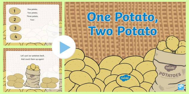 One Potato, Two Potato Song PowerPoint