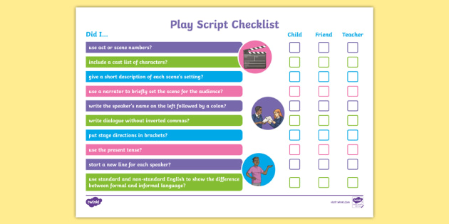 features of a play script