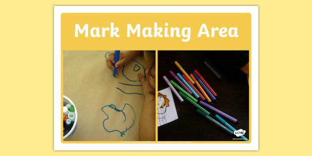 Mark Making Area Photo Sign - mark making, area, photo, sign