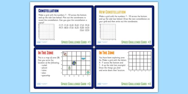 Space Themed Maths Challenge Cards KS2 - space, maths, KS2 maths