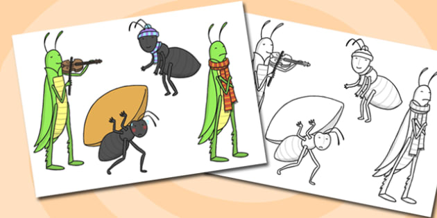 photo about The Ant and the Grasshopper Story Printable referred to as The Ant and the Grhopper Adhere Puppets - grhopper, puppets