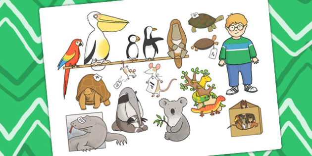 Story Cut Outs to Support Teaching on The Great Pet Sale - pets, animals, story books