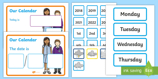 Weather Calendar 2022.Free Free Interactive Morning Calendar Weather And Date Display