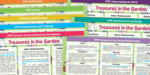 EYFS Treasures in the Garden Lesson Plan and Enhancement Ideas – Garden Planning Website