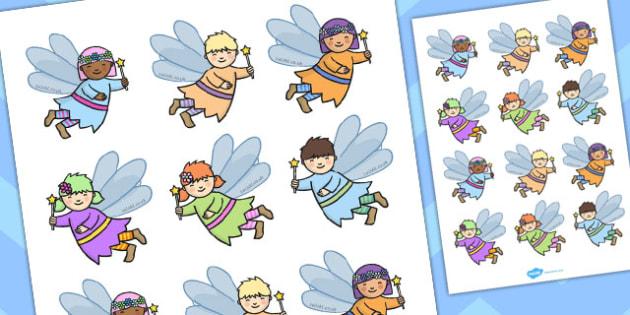 Fairy Garden Cut Outs - fairy, garden, cut outs, activity, cut