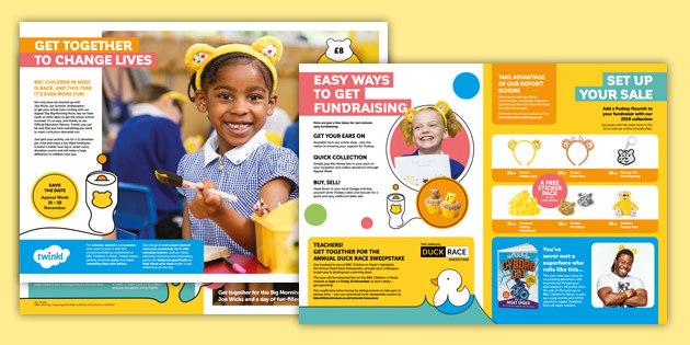 BBC Children in Need Primary Fundraising Kit