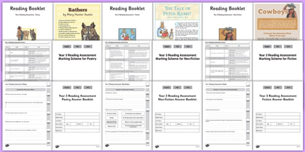 Year 3 Term 2 Reading Assessment Pack - year 3, term 2, reading, assessment, pack
