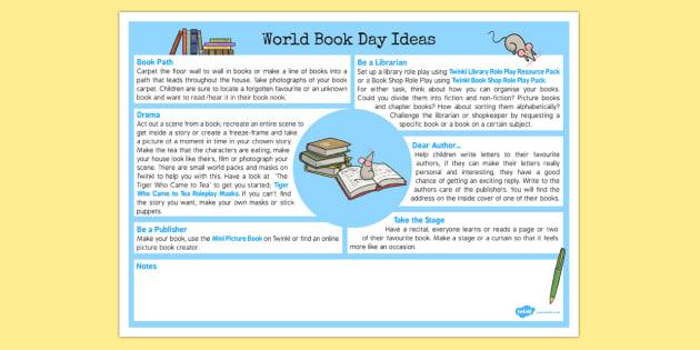 World Book Day Ideas - world book day, ideas, book day, world