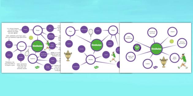 Wimbledon Concept Maps Worksheet / Activity Sheet, worksheet