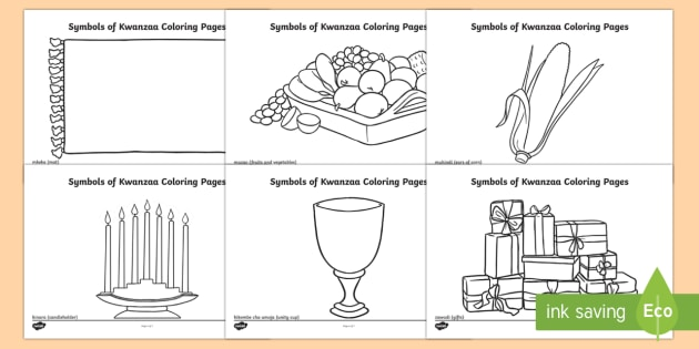 Symbols of Kwanzaa Coloring Pages - Kwanzaa coloring, Symbols of