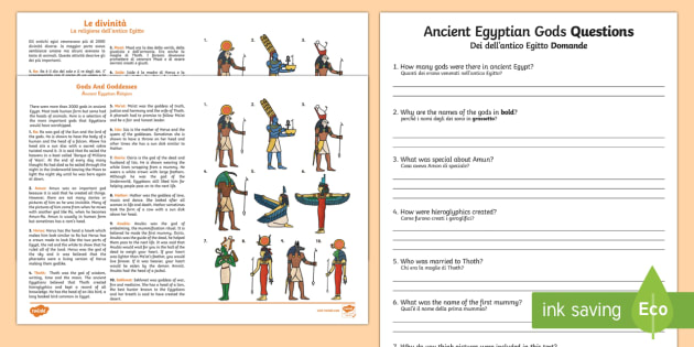 ancient egypt reading comprehension pdf