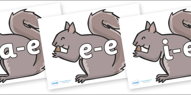 Modifying E Letters on Grey Squirrels - Modifying E, letters, modify, Phase 5, Phase five, alternative spellings for phonemes, DfES letters and Sounds