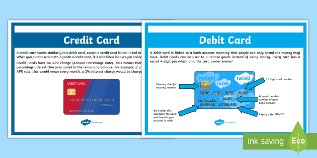 Debit and Credit Card Poster A9 Display Poster