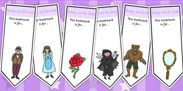 Beauty and the Beast Editable Bookmarks - traditional tales, book