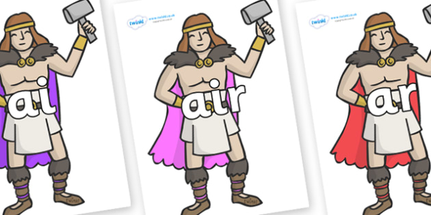 Phase 3 Phonemes on Viking Warriors - Phonemes, phoneme, Phase 3, Phase three, Foundation, Literacy, Letters and Sounds, DfES, display