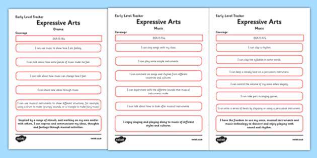 CfE Expressive Arts (Music) Early Level Child-Friendly Tracking-Scottish