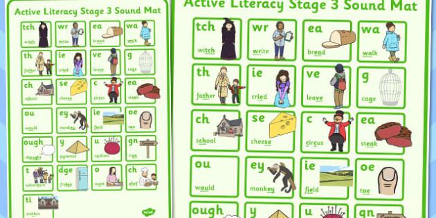 Active Literacy Stage 3 Sound Mat - literacy, stage 3, sound, mat