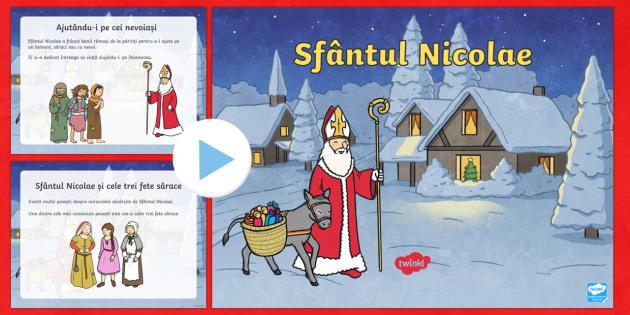Sfântul Nicolae - Prezentare Powerpoint informativă  - craciun, crăciun, sfântul nicolae, sf nicolae, moș nicolae, mos nicolae, crăciun, sărbători de
