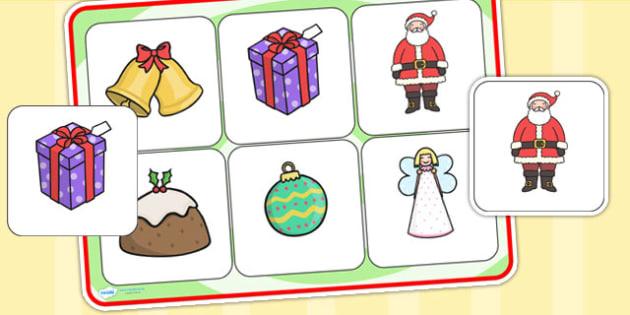 Christmas Matching Mat SEN - christmas, matching mat