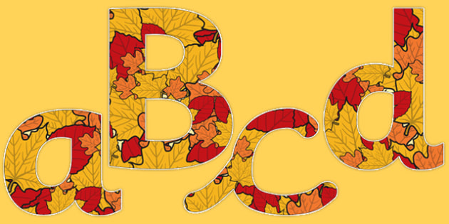 Autumn Display Letters and Numbers Pack - autumn, display, letters, numbers, pack