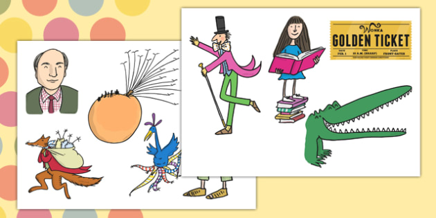 Roald Dahl Display Cut Outs - roald dahl, display, cut outs, cut, outs