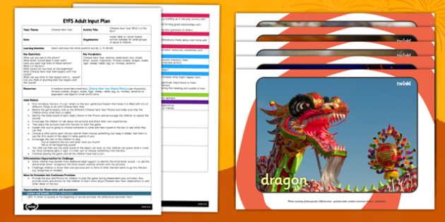 Chinese New Year What's in the Box EYFS Adult Input Plan and Resource Pack - chinese new year, whats in the box, eyfs