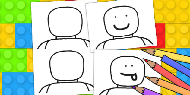 Blank Toy Person Face Templates -games, ourselves, emotions