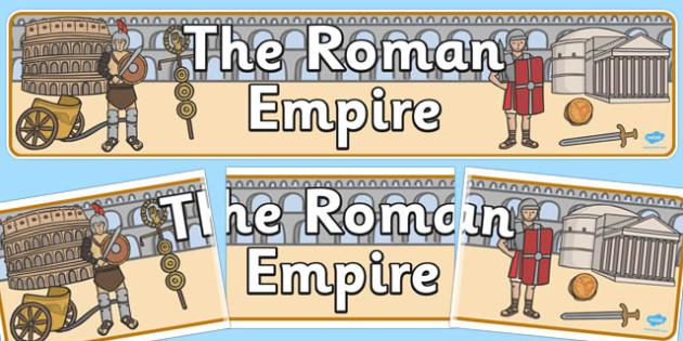 The Roman Empire Display Banner - roman, empire, display, banner