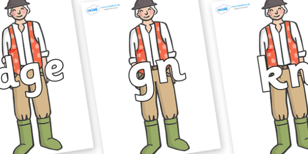 Silent Letters on Farmer to Support Teaching on Pig in the Pond - Silent Letters, silent letter, letter blend, consonant, consonants, digraph, trigraph, A-Z letters, literacy, alphabet, letters, alternative sounds
