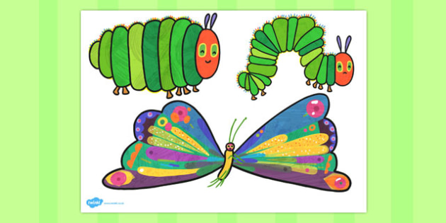 Caterpillar Stick Puppets to Support Teaching on The Very Hungry - australia, hungry, caterpillar