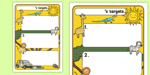 Themed Target Sheets Safari - Target Sheets, Themed Target Sheets, Safari Target Sheets, Safari Themed, Safari Themed Target Sheets
