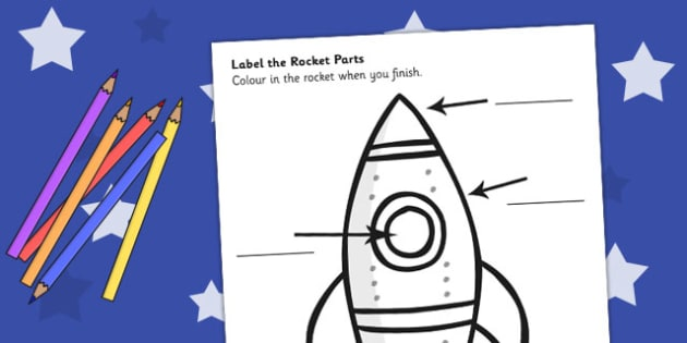 space rocket labelling sheet space rocket labels sheet. Black Bedroom Furniture Sets. Home Design Ideas
