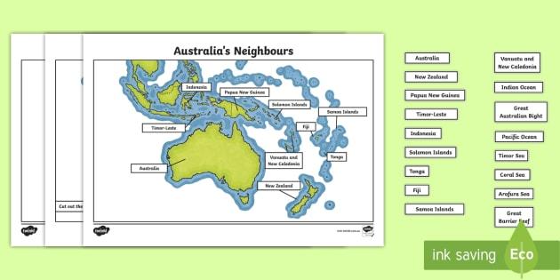 Australia Map Jigsaw.Australia S Neighbours Map Jigsaw Puzzle