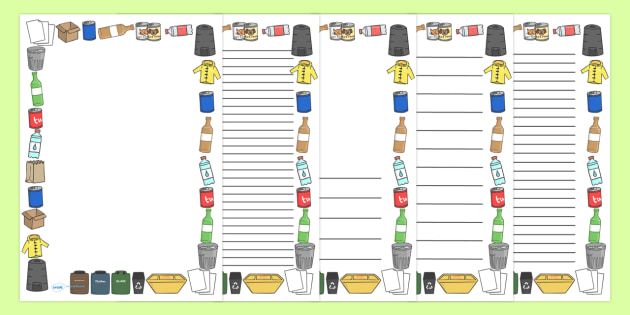 acdd220b04 FREE! - Eco and Recycling Page Borders - Eco and Recycling
