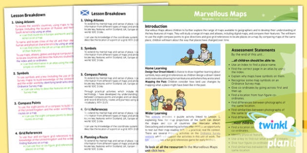 Geography: Marvellous Maps Year 5 Planning Overview CfE