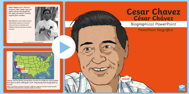 Cesar chavez powerpoint presentaion by teaching 1 2 3 | tpt.