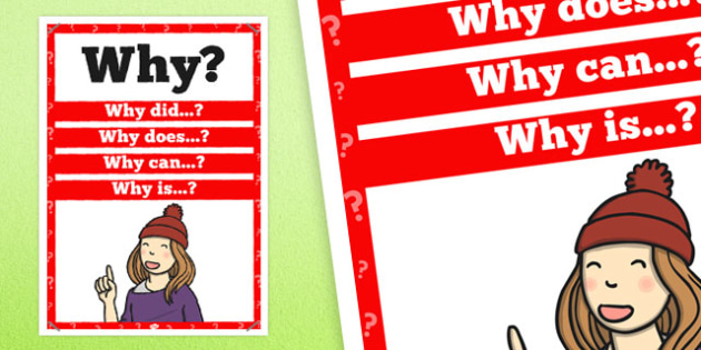 Why? Question Poster - posters, questions, displays, display