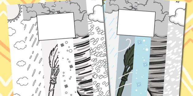 Weather Themed Calendar Template - weather, calendar, template