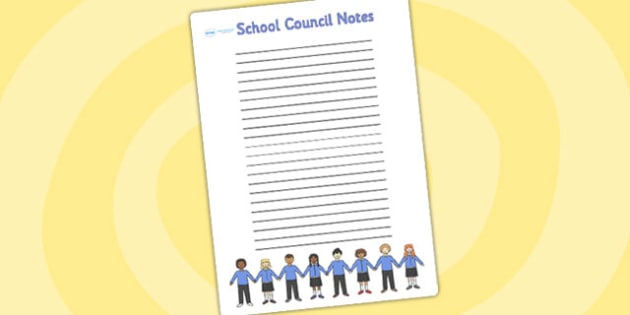 School Council Notes Writing Frame - school council, council notes, school council notes, school council worksheet, notes worksheet