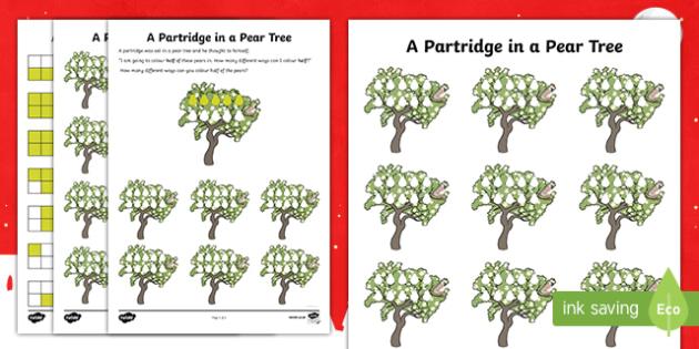Partridge In A Pear Tree Worksheet / Activity Sheet