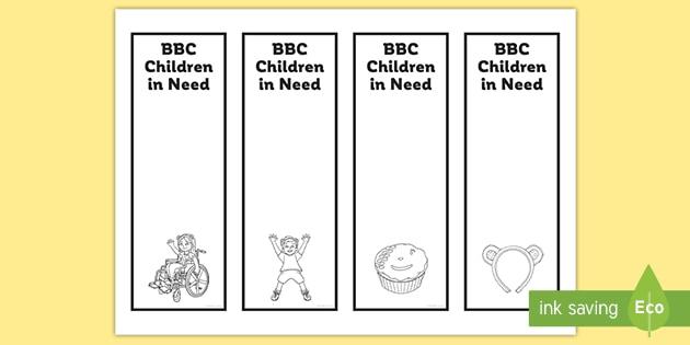 BBC Children in Need Bookmarks