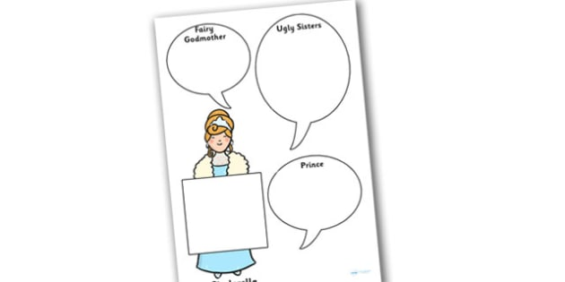 Cinderella Role on the Wall Worksheet - cinderella, role on the wall, worksheets, role on the wall worksheets, cinderella worksheets, cinderella characters