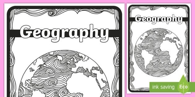 Geography Mindfulness Colouring Book Cover