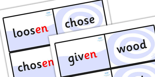 Suffix Loop Cards (en) - suffix loop cards, suffixes, suffix en, en, words ending in en, suffix loop game, suffix game, suffix activity, ks2 english