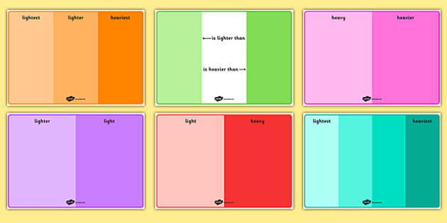 Comparing Weights Activity Mats - weights, compare, activity, mats