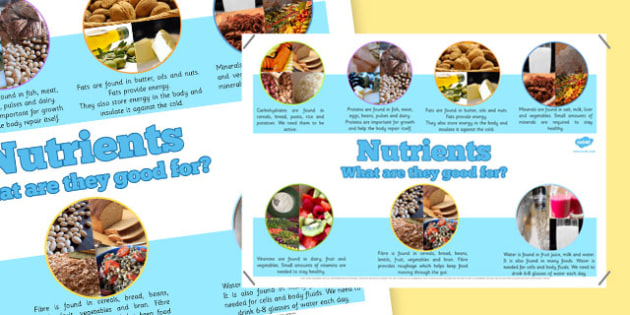 Year 6 All Nutrients Display Poster - key stage two, health, eat