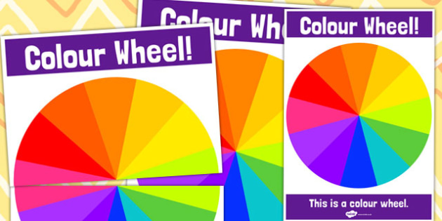 Tertiary Colour Wheel Poster - Tertiary, Colour, Wheel, Poster