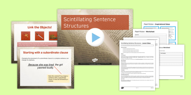 Scintillating Sentences Lesson Pack - scintillating, sentences, lesson pack, lesson, pack